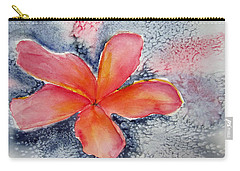 Frangipani Blue Carry-all Pouch