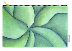 Frangipani Green Carry-all Pouch