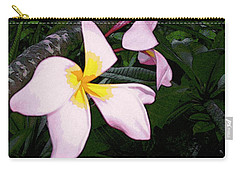 Carry-all Pouch featuring the digital art Frangipani Moment by Winsome Gunning