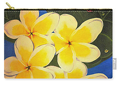 Frangipani With Lady Bug Carry-all Pouch by Sandra Phryce-Jones