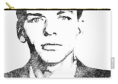 Frank Sinata Bw Portrait Carry-all Pouch by Mihaela Pater