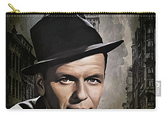 Carry-all Pouch featuring the painting  Frank Sinatra by Andrzej Szczerski