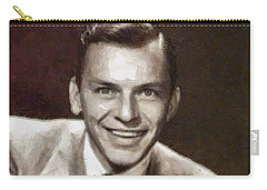 Frank Sinatra By Mary Bassett Carry-all Pouch