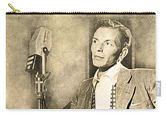 Carry-all Pouch featuring the digital art Frank Sinatra Crooner by Anthony Murphy