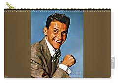 Frank Sinatra, Digital Art By Mary Bassett Carry-all Pouch by Mary Bassett