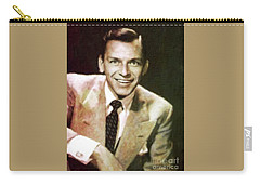 Frank Sinatra, Hollywood Legend By Mary Bassett Carry-all Pouch by Mary Bassett