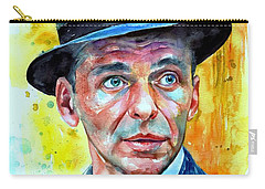 Frank Sinatra In Blue Fedora Carry-all Pouch
