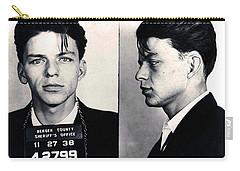 Frank Sinatra Mug Shot Horizontal Carry-all Pouch by Tony Rubino