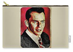Frank Sinatra Pop Art Carry-all Pouch by Mary Bassett