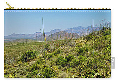 Franklin Mountains State Park Facing North Carry-all Pouch by Allen Sheffield