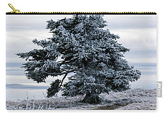 Frasier Fir Tree Grows Naturally Carry-all Pouch by Serge Skiba