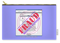 Fraud Email Exposed Carry-all Pouch by Barbara Tristan