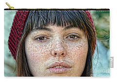 Freckle Face Closeup  Color Version Carry-all Pouch