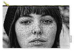 Freckle Face Closeup  Carry-all Pouch by Jim Fitzpatrick