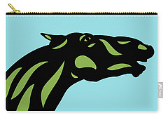 Fred - Pop Art Horse - Black, Greenery, Island Paradise Blue Carry-all Pouch