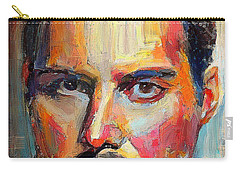 Freddie Mercury Colorful Portrait Carry-all Pouch