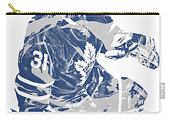 Frederik Andersen Toronto Maple Leafs Pixel Art 1 Carry-all Pouch