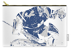 Frederik Andersen Toronto Maple Leafs Pixel Art 5 Carry-all Pouch