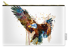 Free And Deadly Eagle Carry-all Pouch by Marian Voicu
