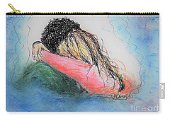 Carry-all Pouch featuring the mixed media Free Hugs by Denise Fulmer