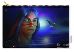 Carry-all Pouch featuring the digital art Free  Spirit 3 by Shadowlea Is