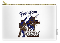 Carry-all Pouch featuring the mixed media Freedom Is Earned - Ww2 by War Is Hell Store