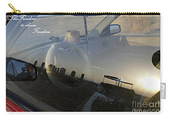 Carry-all Pouch featuring the photograph Freedom To Choose Freedom by Arik Baltinester