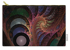 Carry-all Pouch featuring the digital art Freefall - Fractal Art by NirvanaBlues