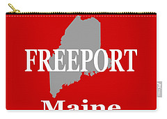 Carry-all Pouch featuring the photograph Freeport Maine State City And Town Pride  by Keith Webber Jr