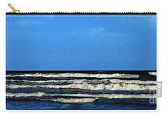 Carry-all Pouch featuring the digital art Freeport Texas Seascape Digital Painting A51517 by Mas Art Studio