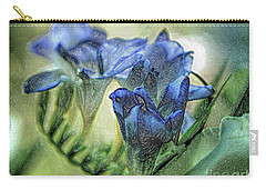 Carry-all Pouch featuring the photograph Freesia Carved In Blue by Lance Sheridan-Peel