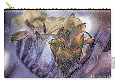 Carry-all Pouch featuring the photograph Freesia Carved One by Lance Sheridan-Peel