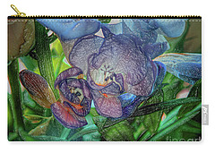 Carry-all Pouch featuring the photograph Freesia Multi Coloured by Lance Sheridan-Peel