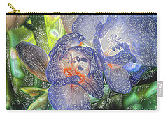 Carry-all Pouch featuring the photograph Freesia's In Bloom by Lance Sheridan-Peel