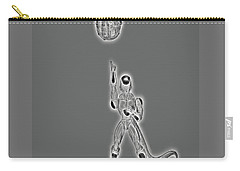 Carry-all Pouch featuring the digital art Freeza Black And White by Ray Shiu