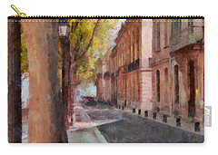 Carry-all Pouch featuring the photograph French Boulevard by Scott Carruthers