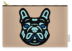 French Bulldog Francis - Dog Design - Hazelnut, Island Paradise, Lapis Blue Carry-all Pouch