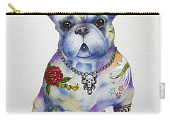 French Bulldog Ozzie Carry-all Pouch by Patricia Lintner