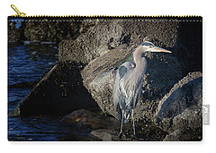 Carry-all Pouch featuring the photograph French Creek Heron by Randy Hall