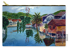 French Harbor Isla De Roatan Carry-all Pouch by Donna Walsh