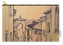 French Little Town Drawing Carry-all Pouch