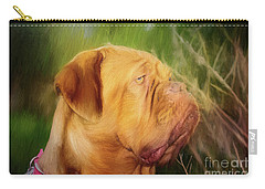 French Mastiff  Carry-all Pouch by Eleanor Abramson