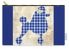 Carry-all Pouch featuring the mixed media French Poodle Plaid by Christina Rollo