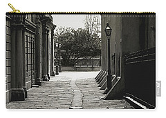 Carry-all Pouch featuring the photograph French Quarter Alley by KG Thienemann