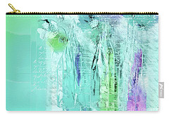 Carry-all Pouch featuring the digital art French Still Life - 14b by Variance Collections