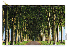 French Tree Lined Country Lane Carry-all Pouch
