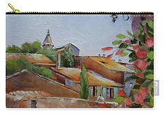 Carry-all Pouch featuring the painting French Village by Chris Hobel