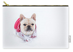 Frenchie In The Snow Carry-all Pouch