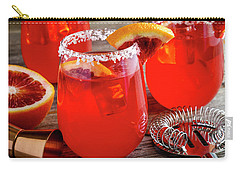 Carry-all Pouch featuring the photograph Fresh Blood Orange Margaritas by Teri Virbickis