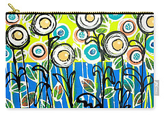 Fresh Blue Flowers Carry-all Pouch